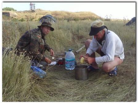 UT4FJ/P  UR5FEL/P готовят ужин