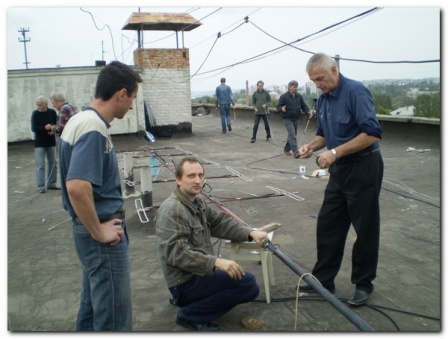 Установка антенн репитера